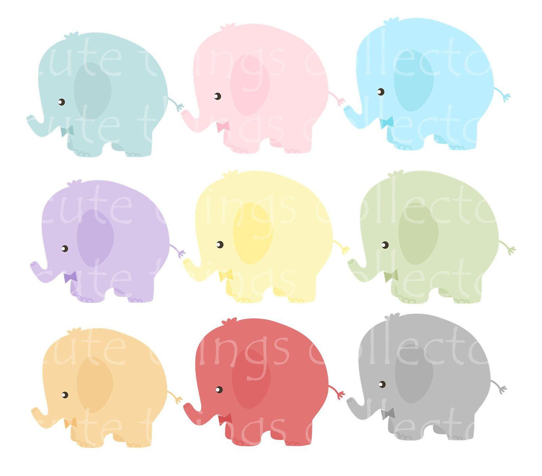 Cute Elephant Svg Dxf Eps Vector Clip Art Cut Vinyl Transfer