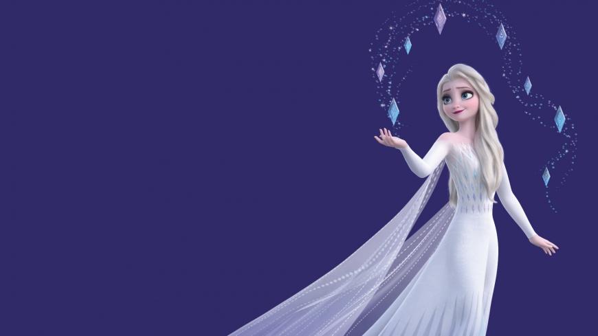 Frozen 2 Hd Wallpaper Elsa White Dress Hair Down Desktop Trend In 2020 Down Hairstyles Dresses Disney Princess Frozen