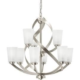 Kichler Dining Room Lighting Amazing Kichler Exclusives Layla 9Light Chandelier Brushed Nickel Inspiration Design