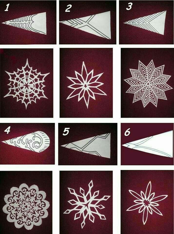 Snowflake Paper Crafts Diy Paper Snowflakes Diy Paper Crafts