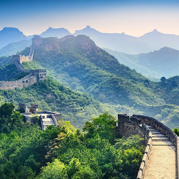 Great Wall 2 Of China Canvas Set Great Wall Of China Wonders Of The World Visit Thailand