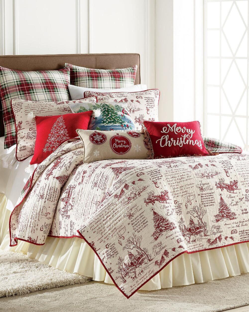 Joyeux Noel Boucle Knit Decorative Pillow Christmas Bedroom
