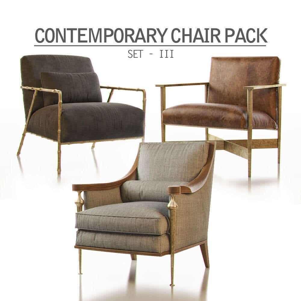 Contemporary chair pack set iii 3d model price render rendering 3dmodels vray design 3dmodel 3dart photoshop cgsouq render 3dvisualization