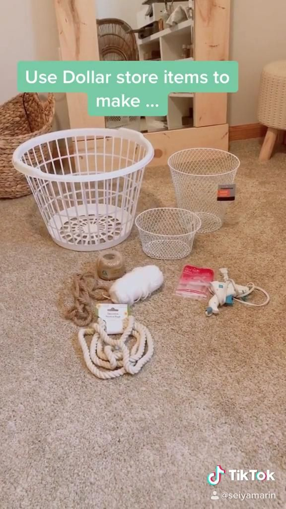 Photo of DIY Dollar Store Baskets
