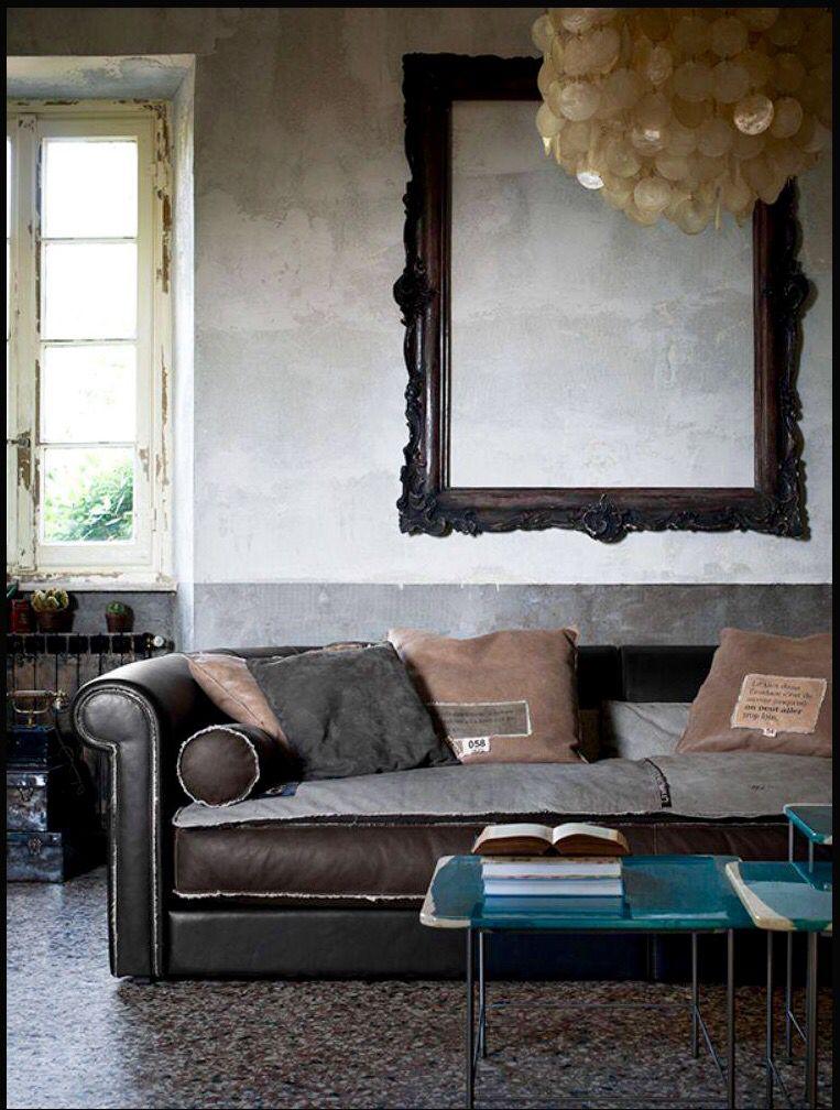 Braunes Ledersofa mit gewölbten Armlehnen \u2013 Modell ALFRED SE - Wohnzimmer Braunes Sofa