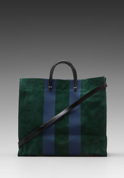 7165eb6866 Simple Tote in Green - Lyst   My Style   Bags, Clare vivier, Fashion ...