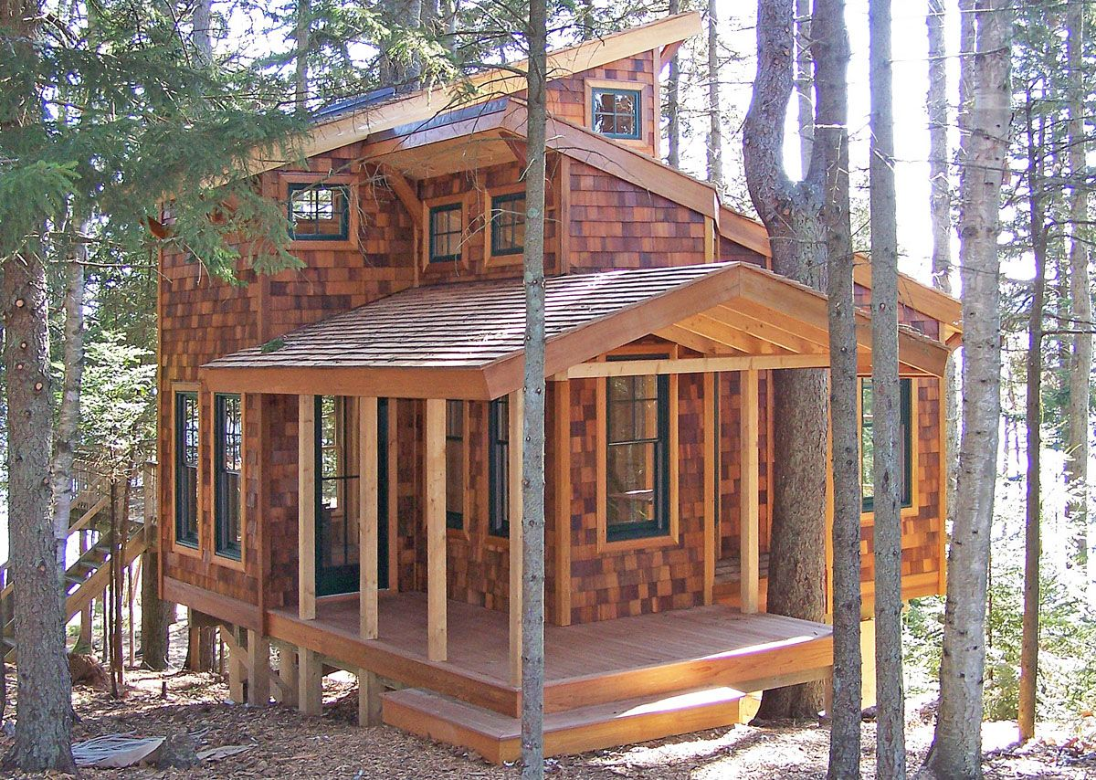 350 foot cabin here in maine construction and diy