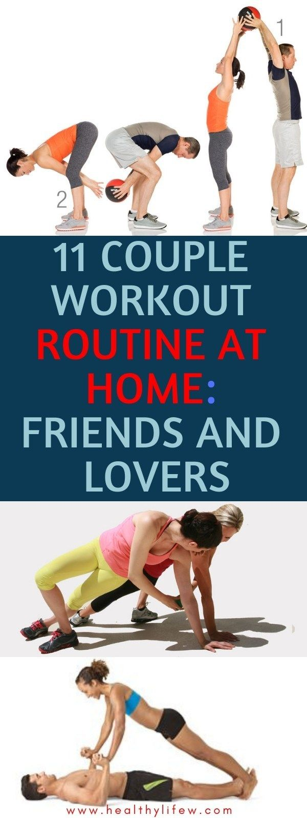 11 couple workout routine at home: friends, partners and lovers