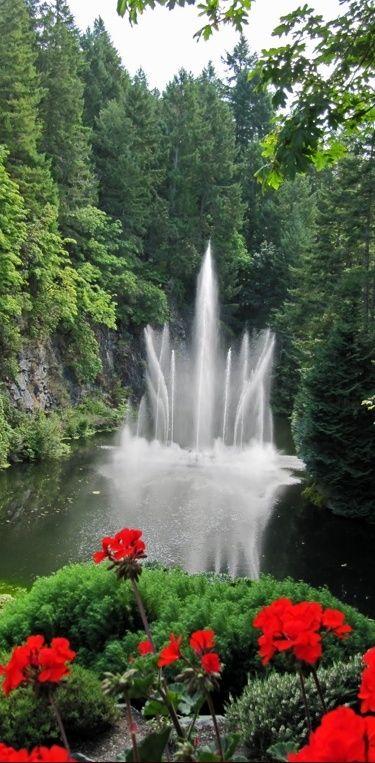 Butchart Gardens ~ Victoria, BC Alaska cruise ideas Pinterest - Cascadas En Jardines
