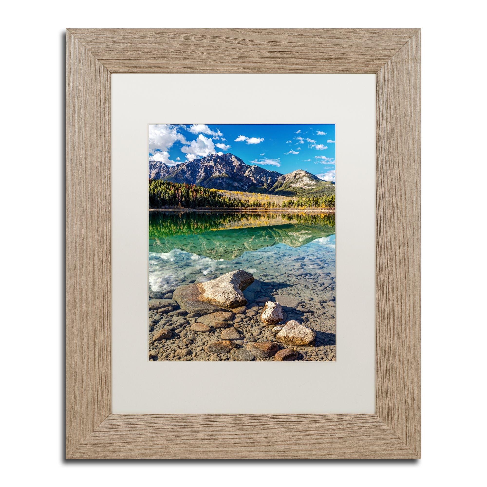 Pierre Leclerc 'Pyramid Mountain Reflection' Matted Framed Art