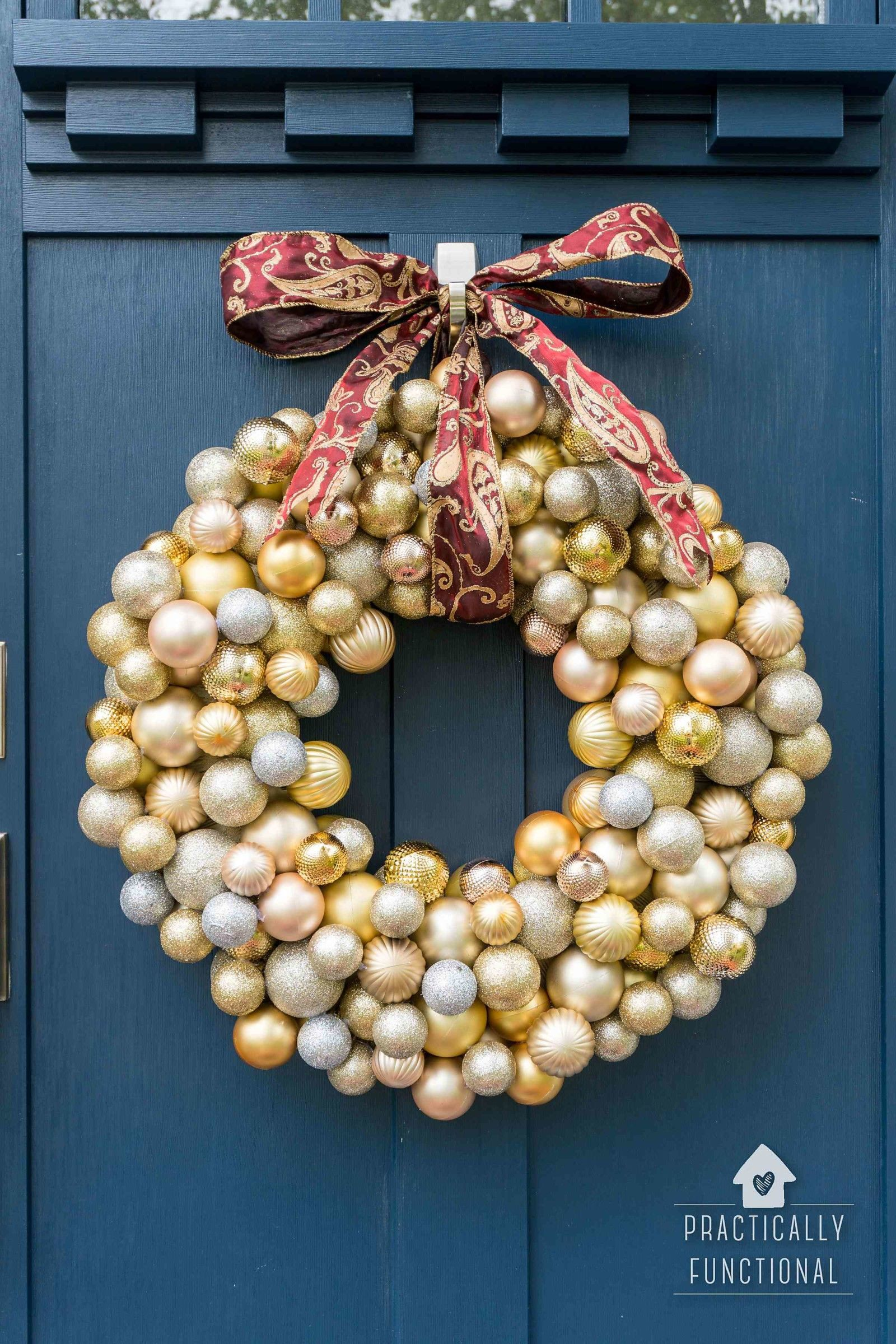 How to Make An Ornament Wreath Easy Crafts Pinterest