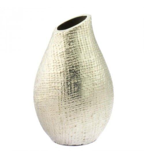 Aluminium Vase In Silver Color 14x20 Vases Bowls Metal