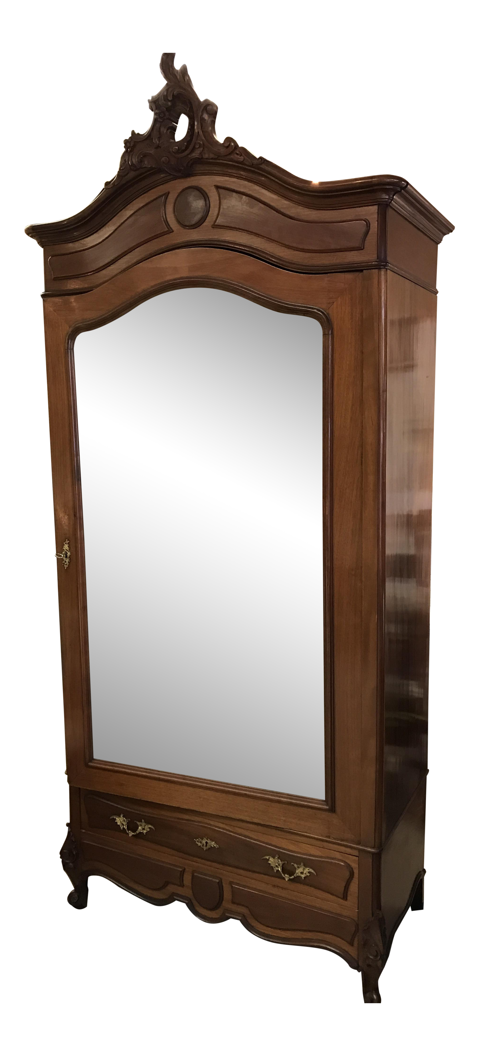 Antique French Wood Armoire on Chairish.com