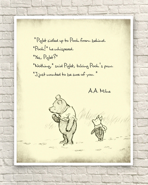 Winnie The Pooh Quotes Winnie The Pooh Classic Pooh Pooh Wall Art Pooh Art Prints Etsy In 2020 Ferkel Zitate Baby Zitate Winnie Pooh Spruche