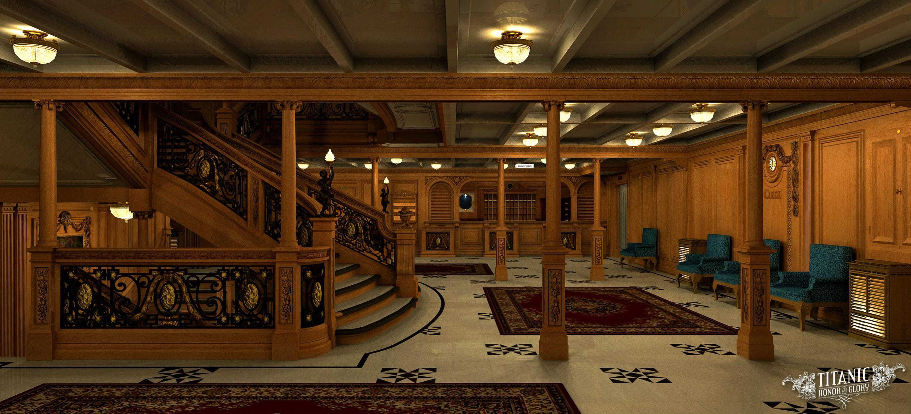 Foyer Wallpaper Xbox : Titanic c deck entrance rms s lusitania