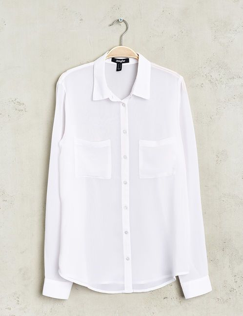 chemise basic mousseline blanche