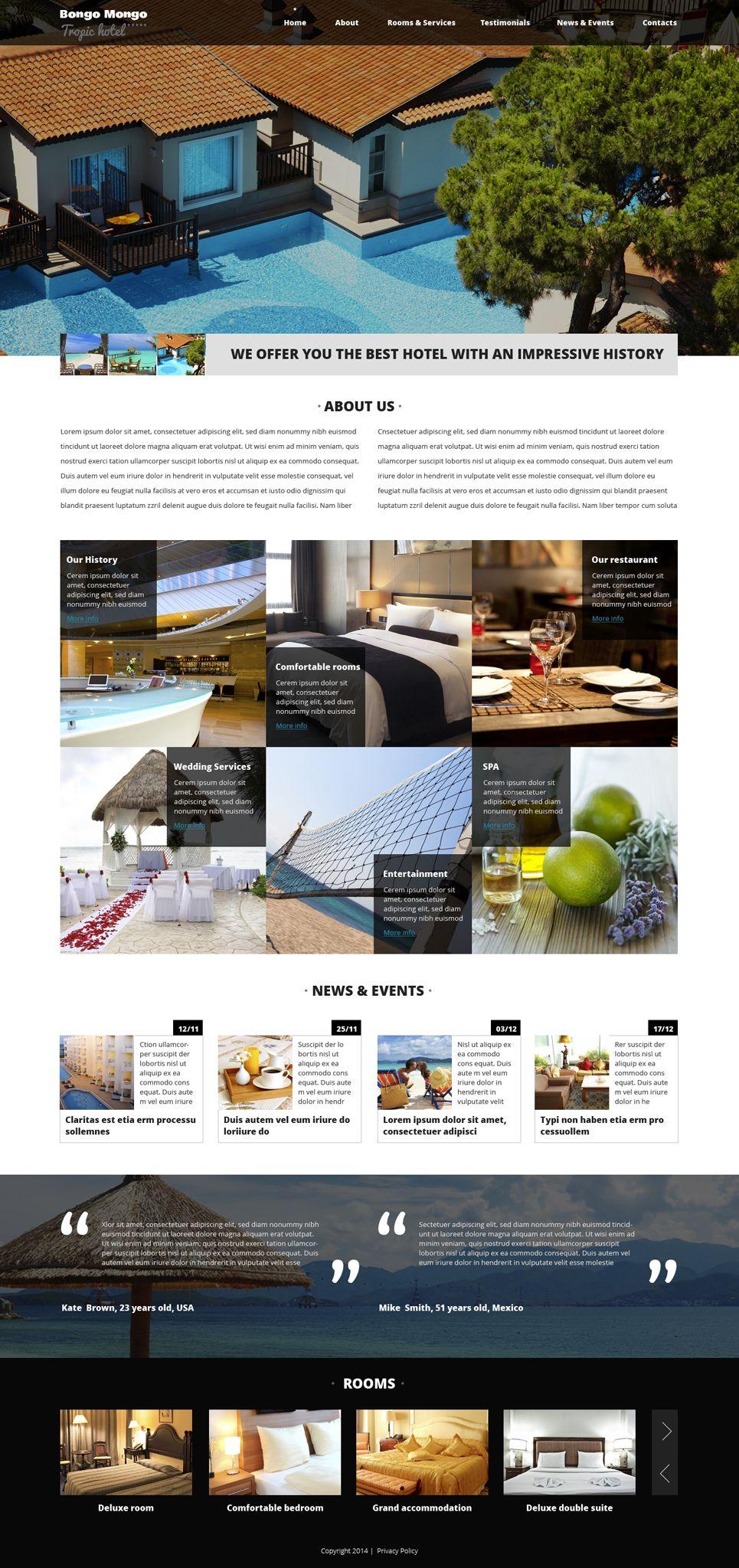 Hotels Drupal Template Design Saves Pinterest