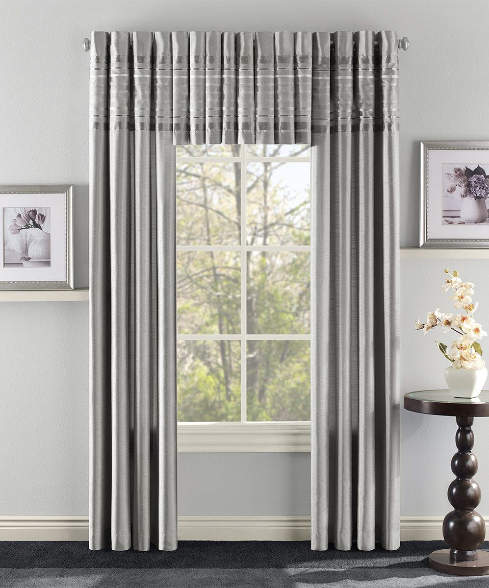 Love This Silver Fiesta Curtain Panel By Belle Maison On Zulily