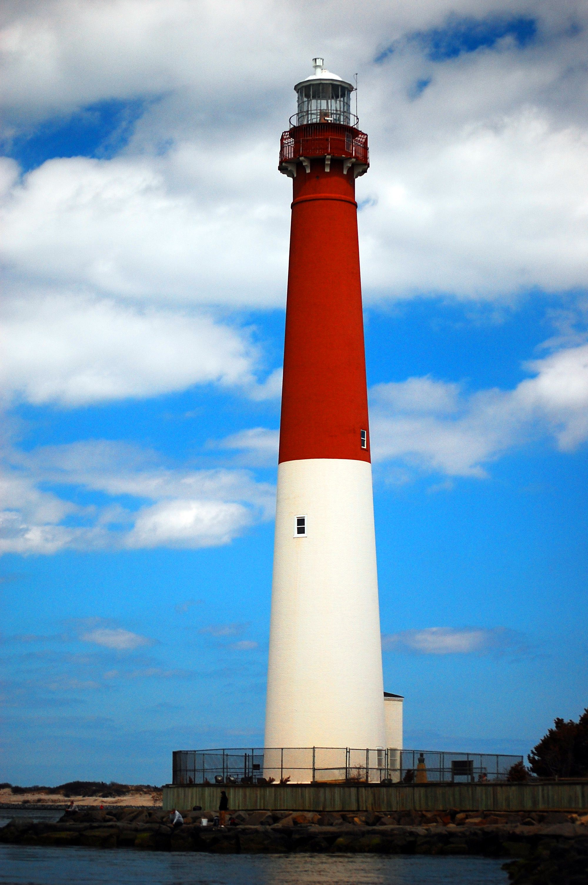 The Barnegat Lighthouse in Barnegat Bay an icon of the Jersey