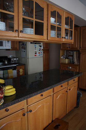Kitchen color change black and grey