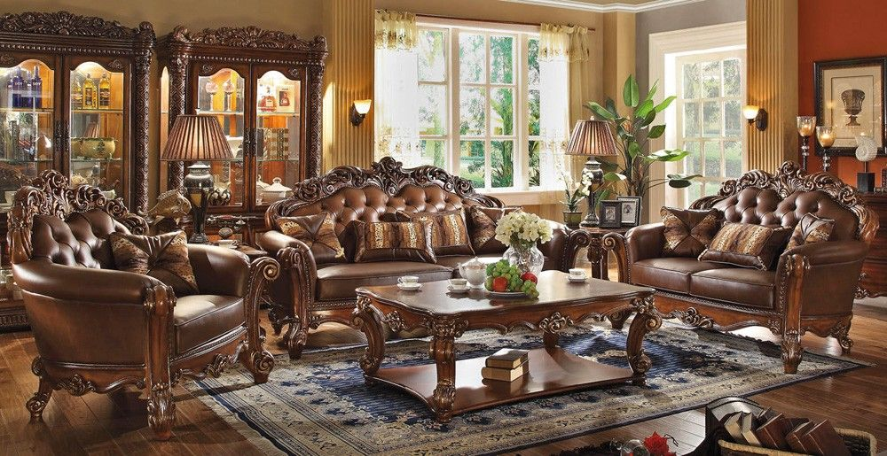 Vendome Classic Leather Sofa Collection Formal Living Room Sets