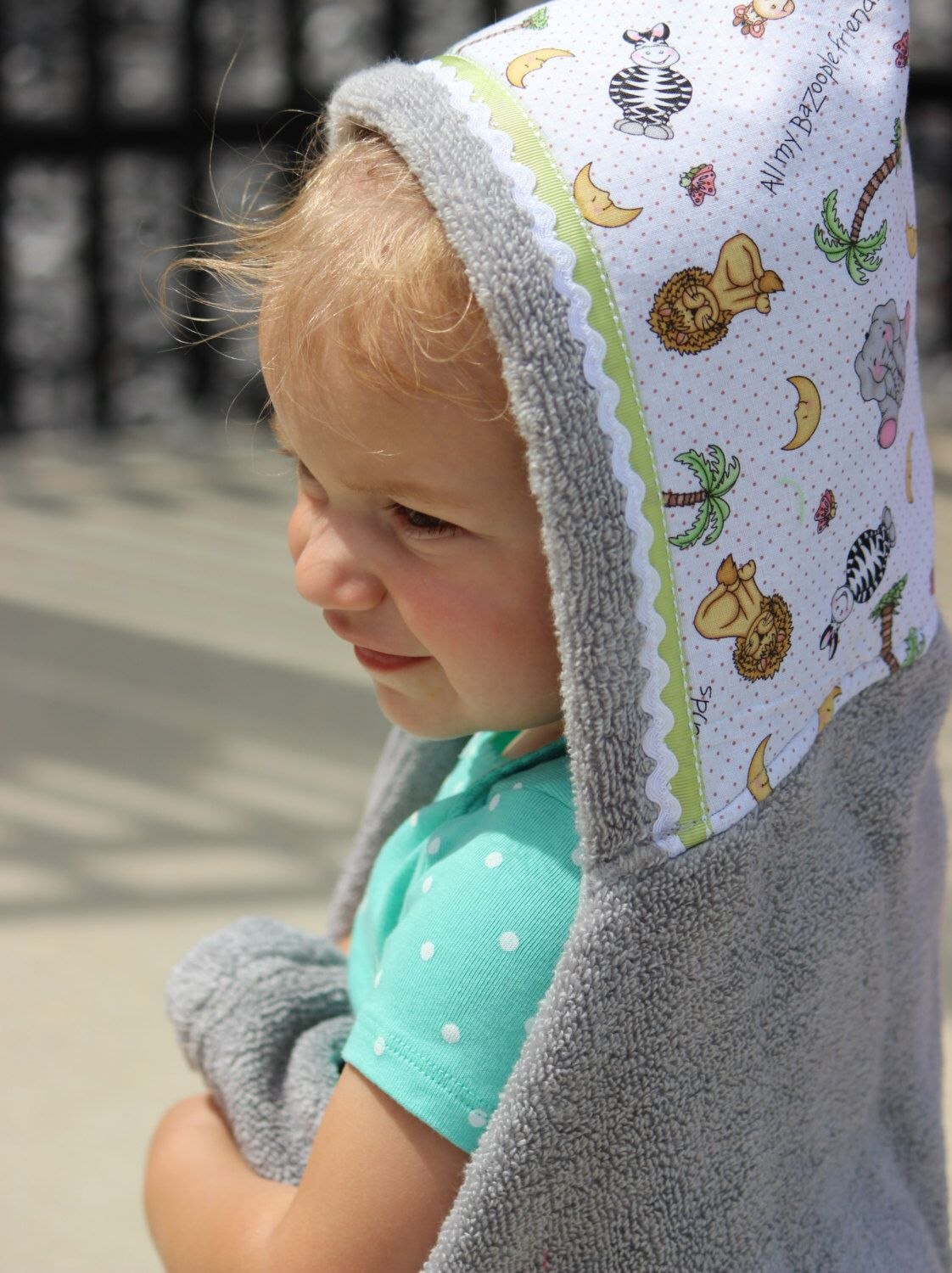Safari animals baby hooded towelbaby bath towelpersonalized towels zoo animals baby hooded towelbaby bath towelpersonalized towelsbaby towel gift negle Image collections
