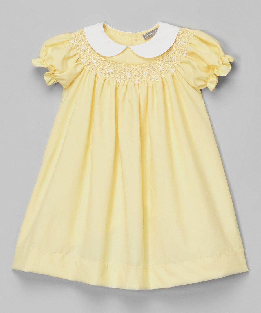 c09090394c943e Look at this Yellow Peter Pan Collar Bishop Dress - Toddler on  zulily  today!