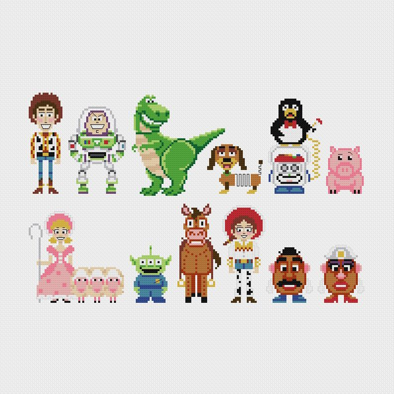 Disney Toy Story Cross Stitch Pattern Pdf Instant Download
