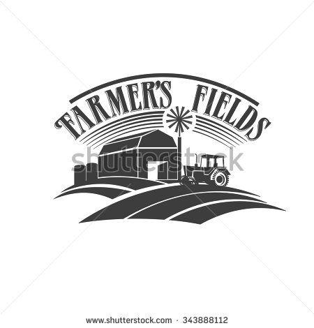 Farmer S Fields Retro Black And White Label Farm Mural Farm Logo Clipart Black And White