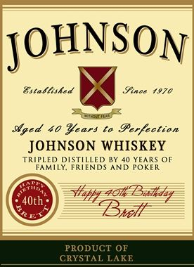 Create A Personalized Whiskey Label For Special Occasion Or Gift Need Great Graduation Gifts Boss 40th 50th Birthdays Even Retirement