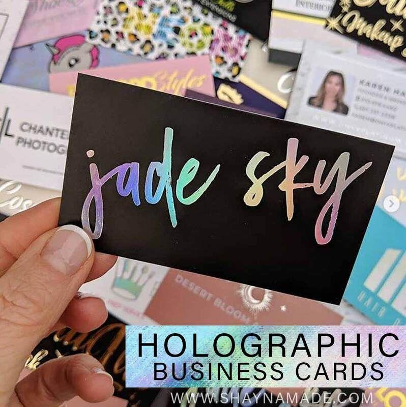Holographic Foil Business Cards Foil Business Cards Printing Business Cards Gold Foil Business Cards