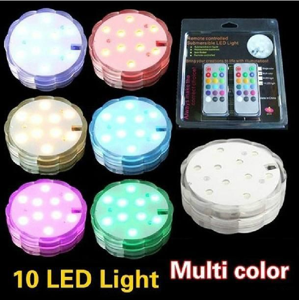 Holiday Light Remote Controlled Submersible Led Light Multicolor 10 Led Light for Wedding Party Waterproof Candle Light Decoration Lamp Online with $5.55/Piece on Ok360's Store   DHgate.com