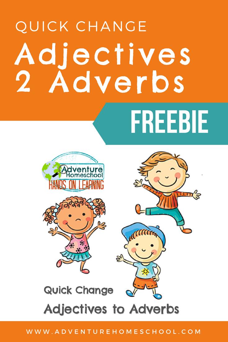 Homeschool Grammar Adjectives To Adverbs Dyslexia Friendly Homeschool Grammar Homeschool Adverbs [ 1102 x 735 Pixel ]
