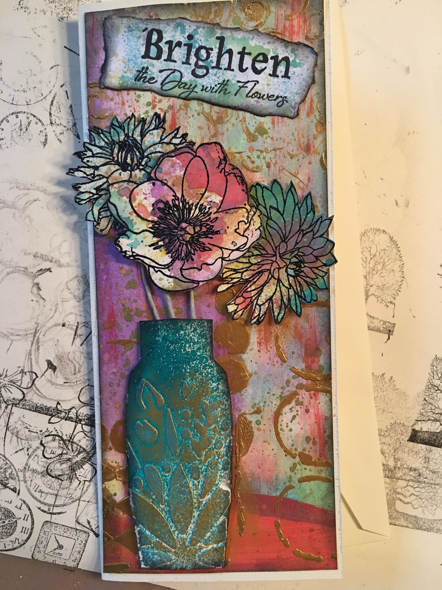 Birthday cardse with flowers rickius handmade cards pinterest