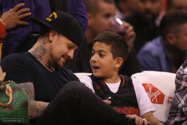 Benji Madden at the Los Angeles Clippers VS The Memphis Grizzlies game at the Staples Center (March 13, 2013 -Los Angeles, CA) Found a bunch more of these. Enjoy! Part 1 of 2.