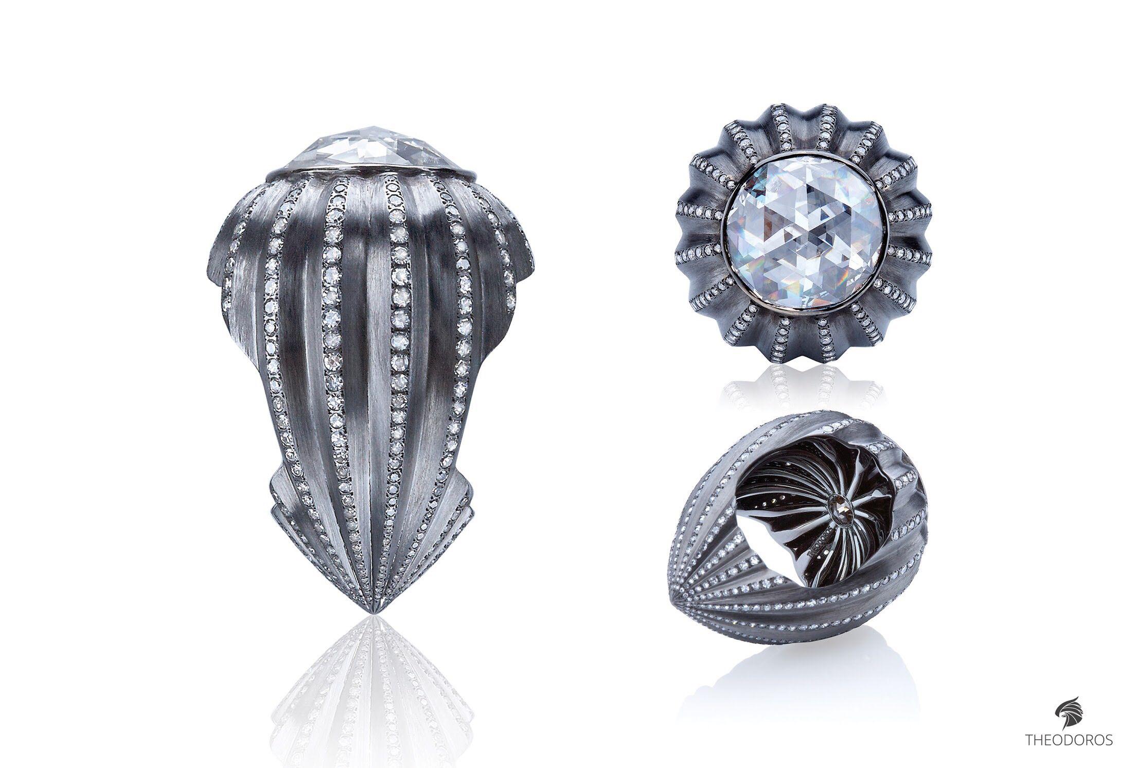 Theodoros diamond ring 3 Theodoros 戒指 Pinterest