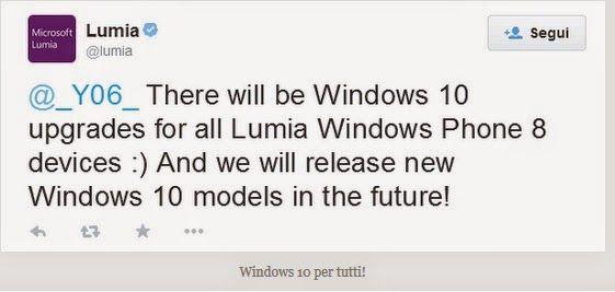 UNIVERSO NOKIA: Nel 2015 i device con WP 8 verranno aggiornati a W...