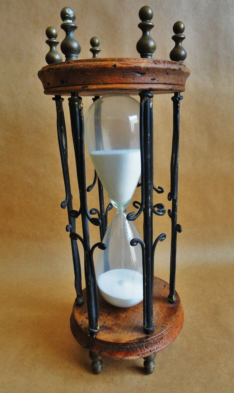 Large 19th Century English Sand Timer Horloges Et Pendules