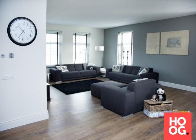 Moderne woonkamer inspiratie notariswoning in