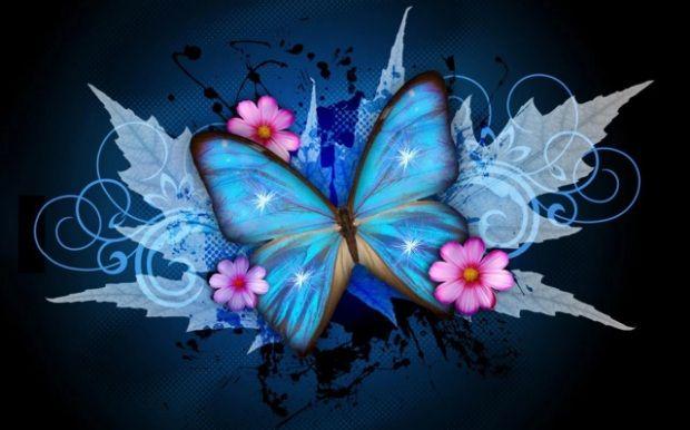 Znalezione Obrazy Dla Zapytania Ruchome Tapety Na Telefon Za Darmo Do Pobrania Butterfly Wallpaper Cross Paintings Blue Butterfly
