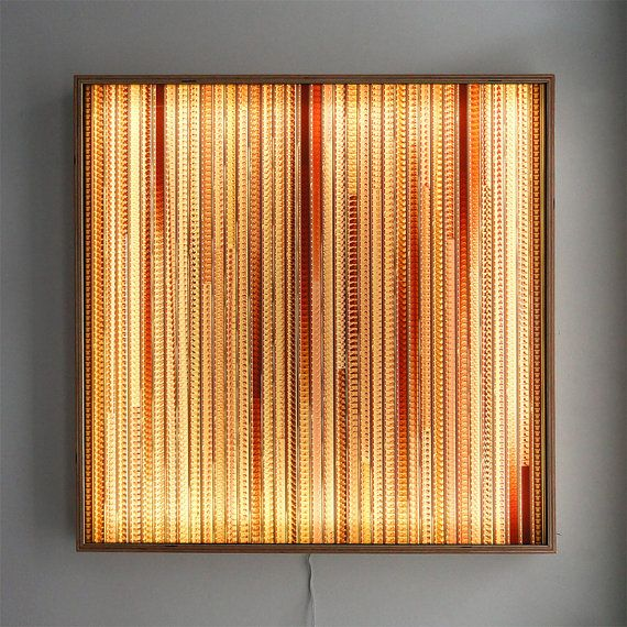 Lighting For Wall Art: Large LIGHTBOX 25 - Vintage 16mm Filmstrip Collage on Acrylic - Wall Art  Lamp - LED,Lighting