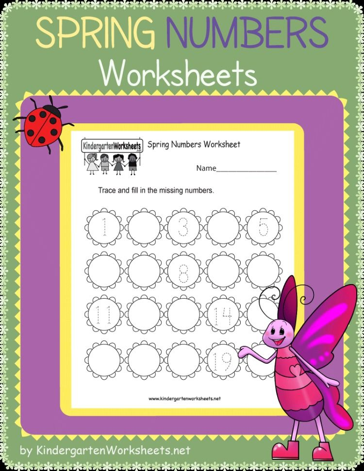 This Is A Free Spring Numbers Worksheet For Kindergarteners