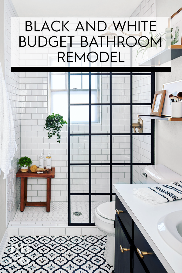 This Small Bath Makeover Blends Budget Friendly Diys And High End Finishes In 2020 Bathrooms Remodel Budget Bathroom Remodel Modern Bathroom Remodel