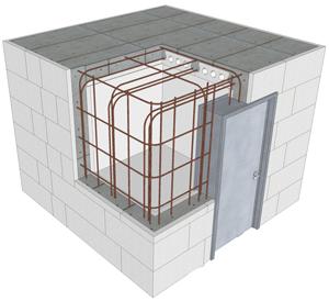 Buildblock Safe Room Cross Section Create Energy Saving