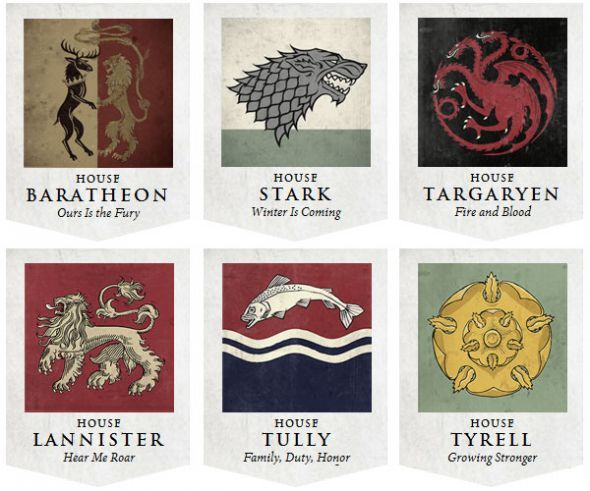 Game Of Thrones House Sigils With Images Game Of Thrones Party