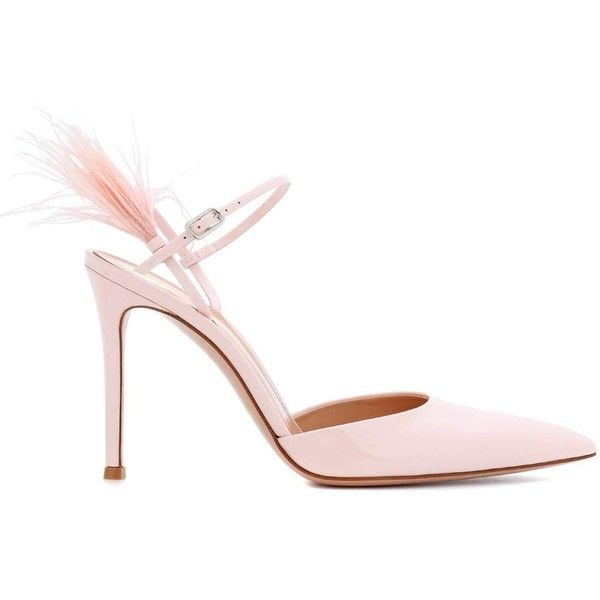 Simone feather-trimmed patent leather pumps Gianvito Rossi ZEHkk7OB