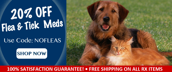 20 Off Flea & Tick Meds on with Coupon Code