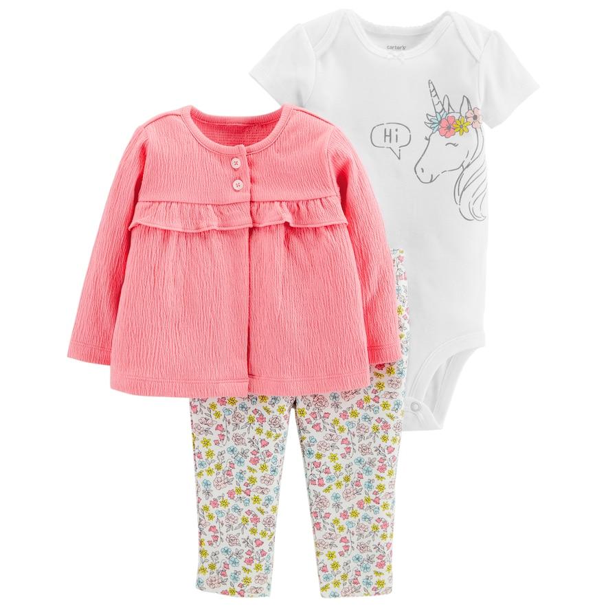 6bada2dd7 Carter s Baby Girl Unicorn Bodysuit