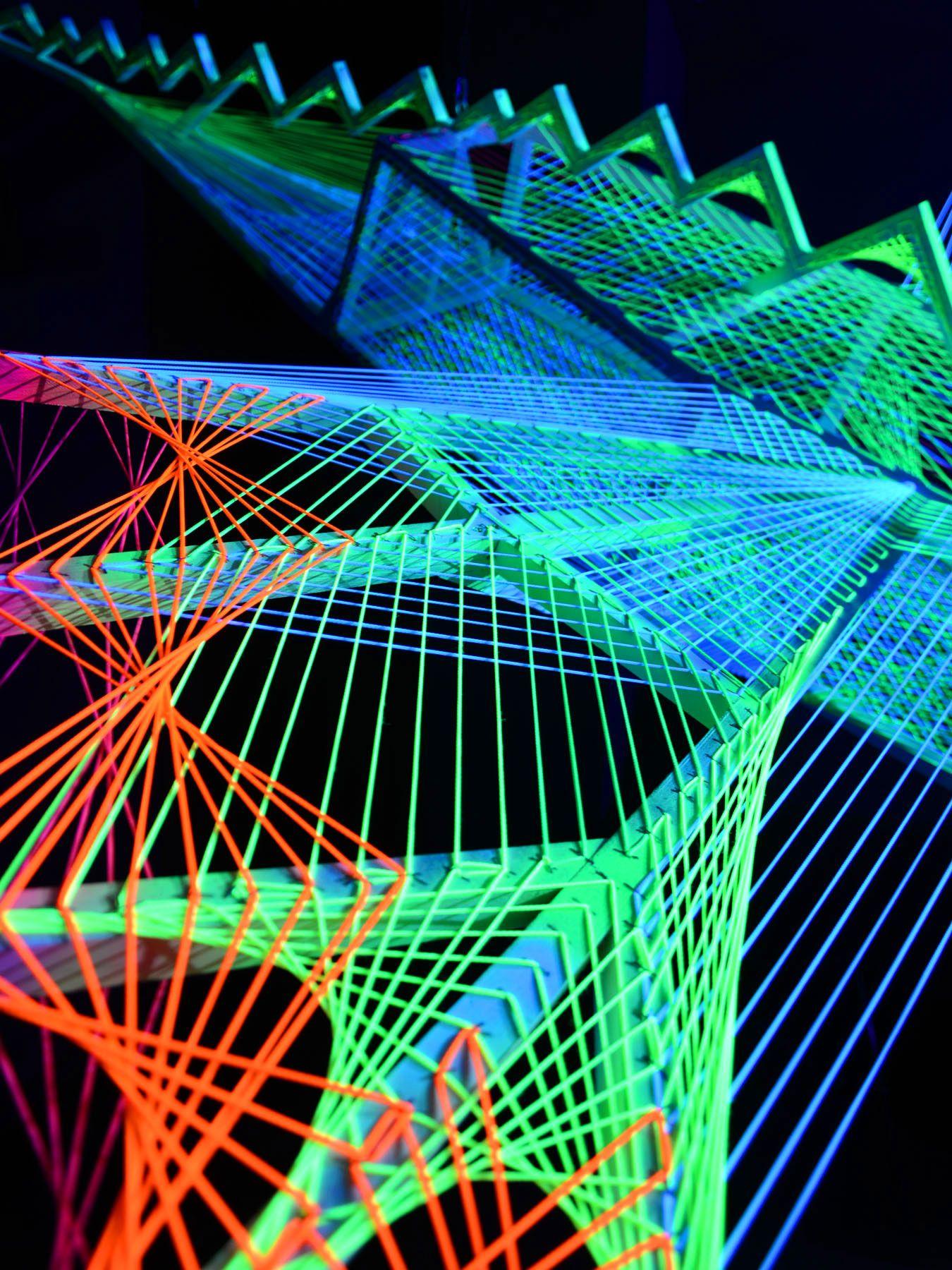 PSYWORK Schwarzlicht 3D StringArt Drache \