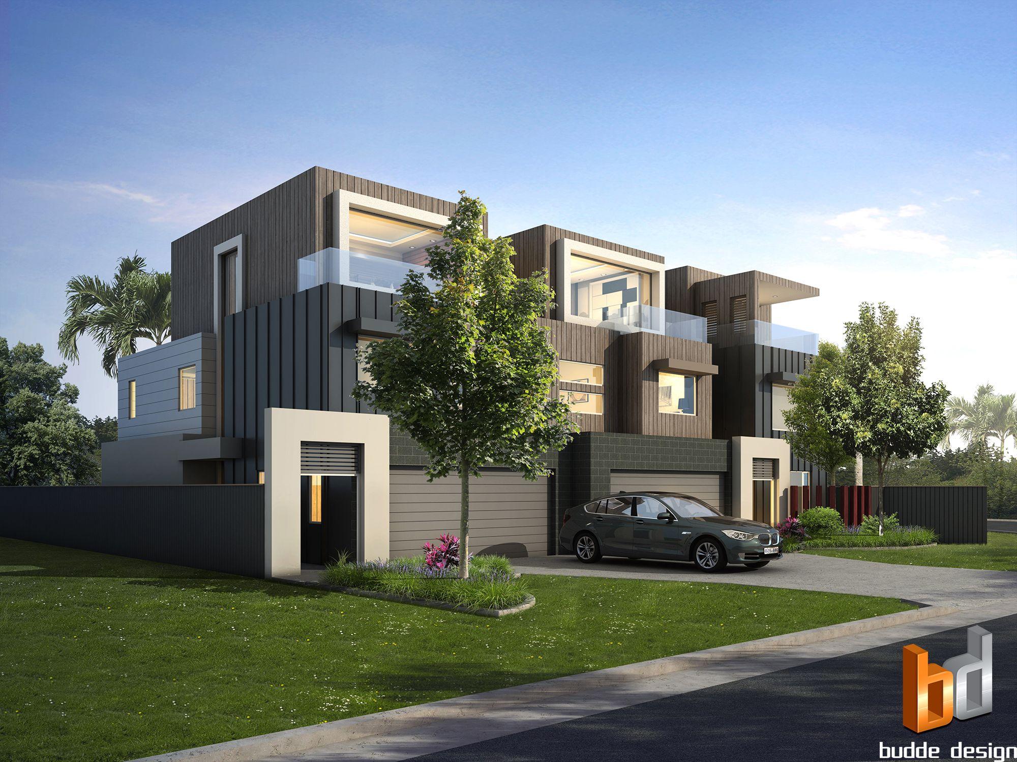 3D External Render For A 3 Townhouse Development Project